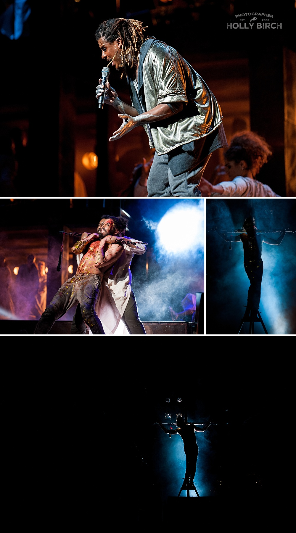Jesus Christ Superstar nailed to the cross