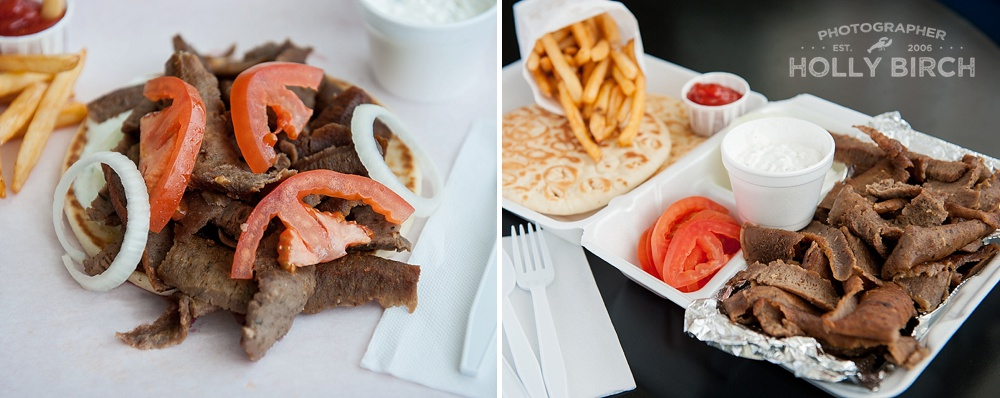 Super Niro's single and double gyro plate