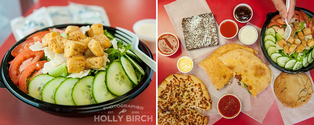 salads, calzones and cheese stix from DP Dough
