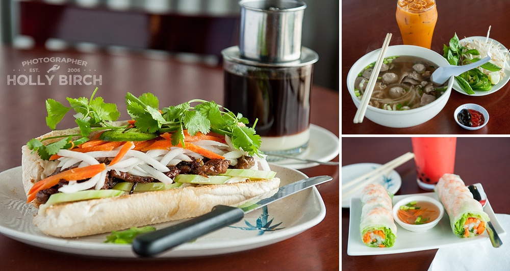 banh mi sandwich, pho and shrimp rolls