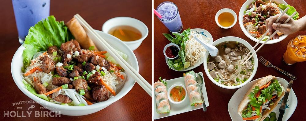 variety of foods at Xinh Xinh Cafe in Urbana