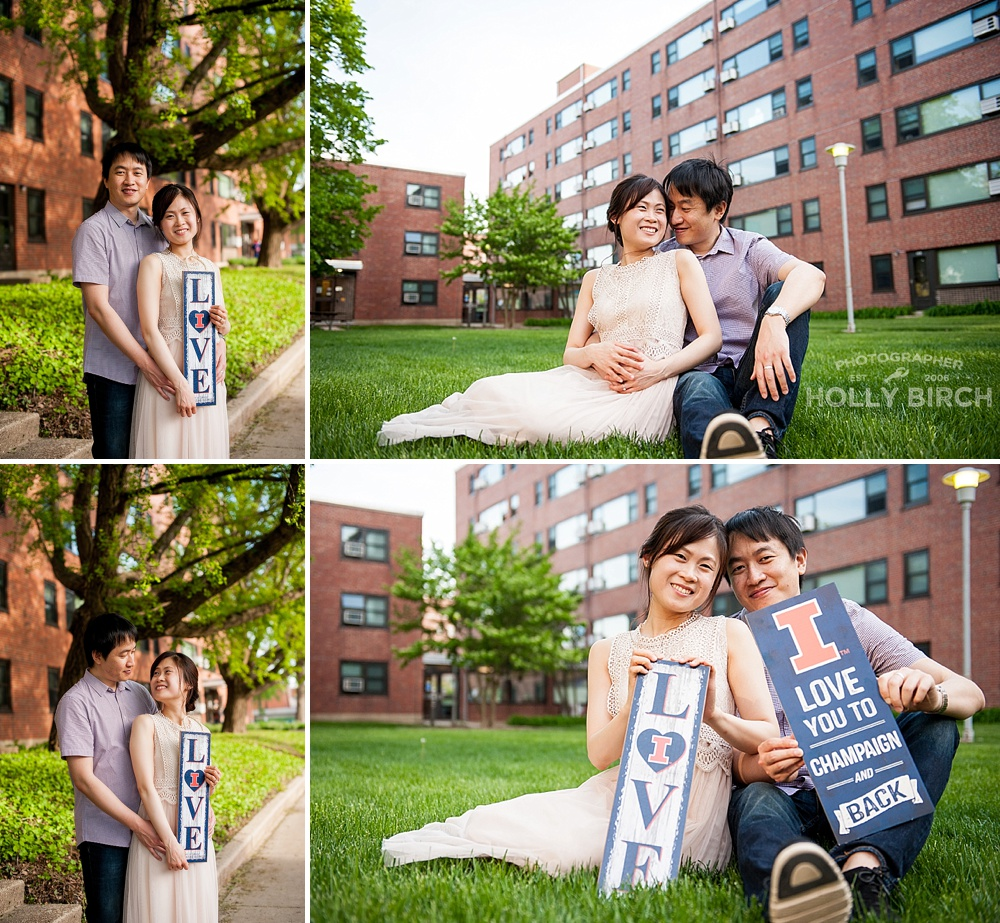 met in Champaign love engagement session
