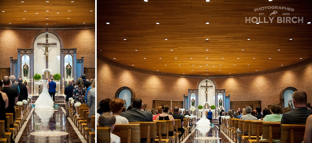 St Matthews catholic wedding ceremony