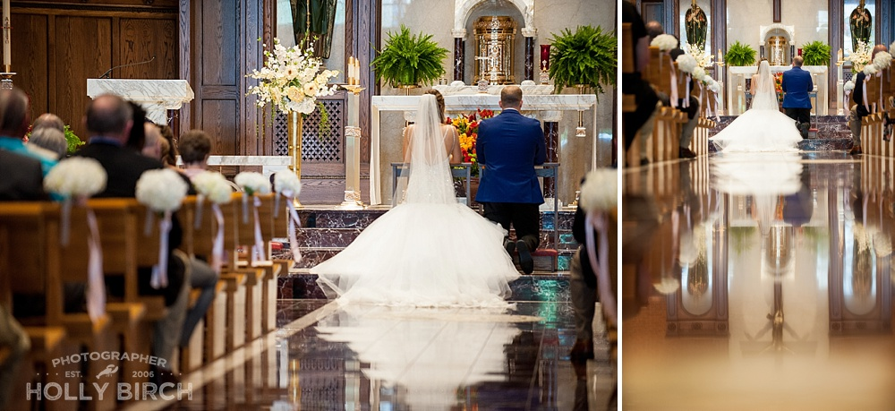 marble floor wedding reflection