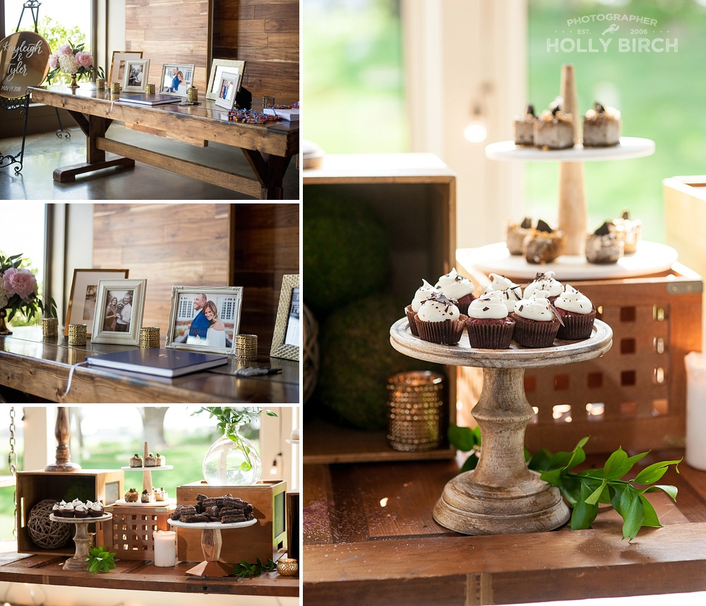 dessert table details at Pear Tree