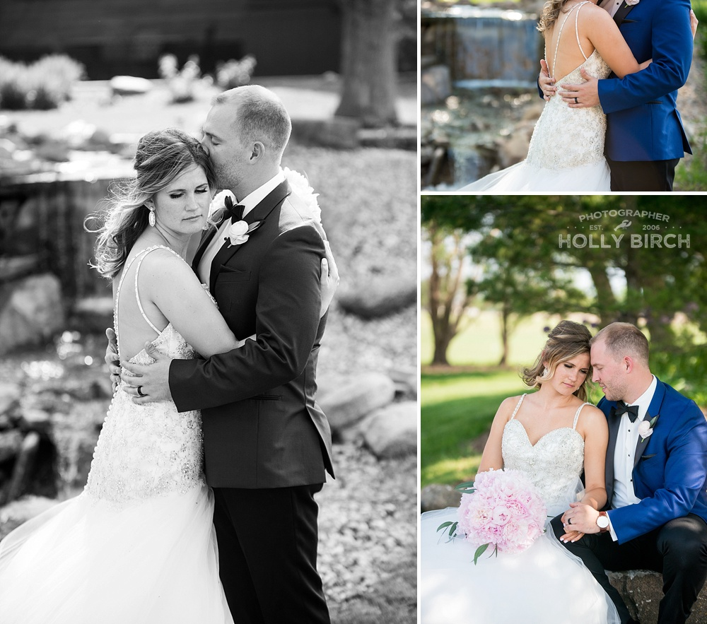 romantic wedding couple poses