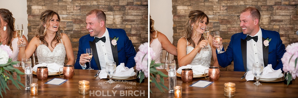head table laughter at wedding