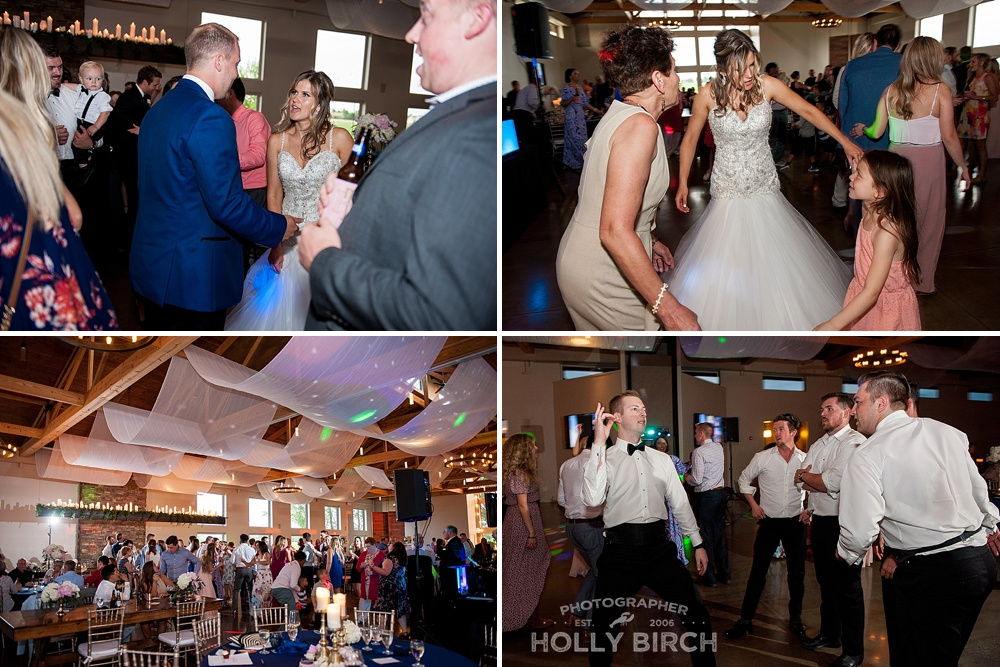 candid dance floor wedding photos