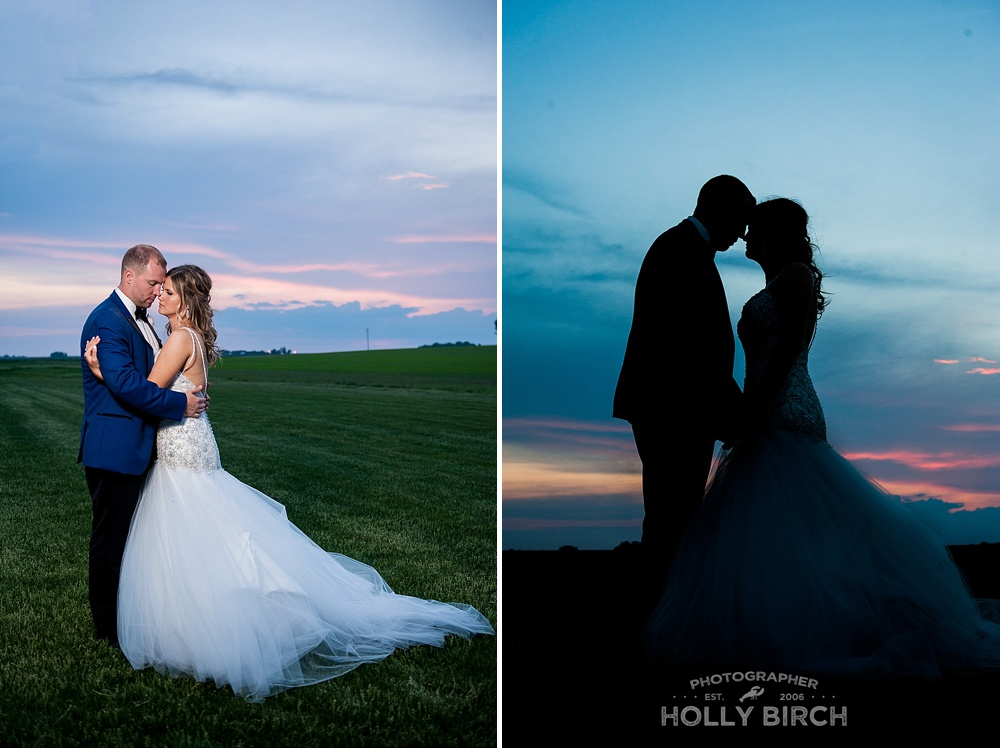 sunset horizon wedding day images