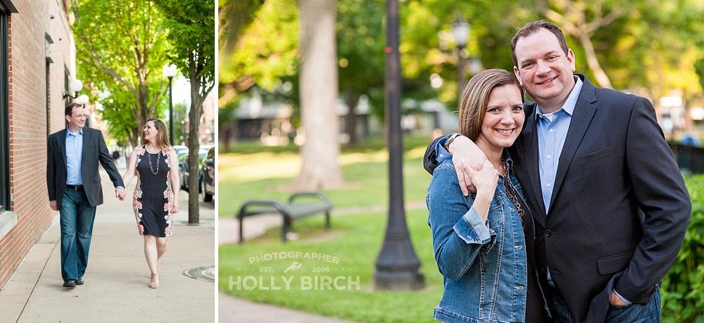 romantic engagement photos at West Side Park