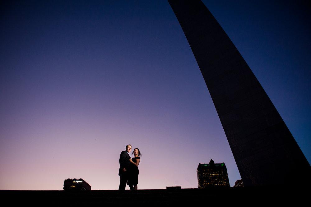 St. Louis Arch engagement photos