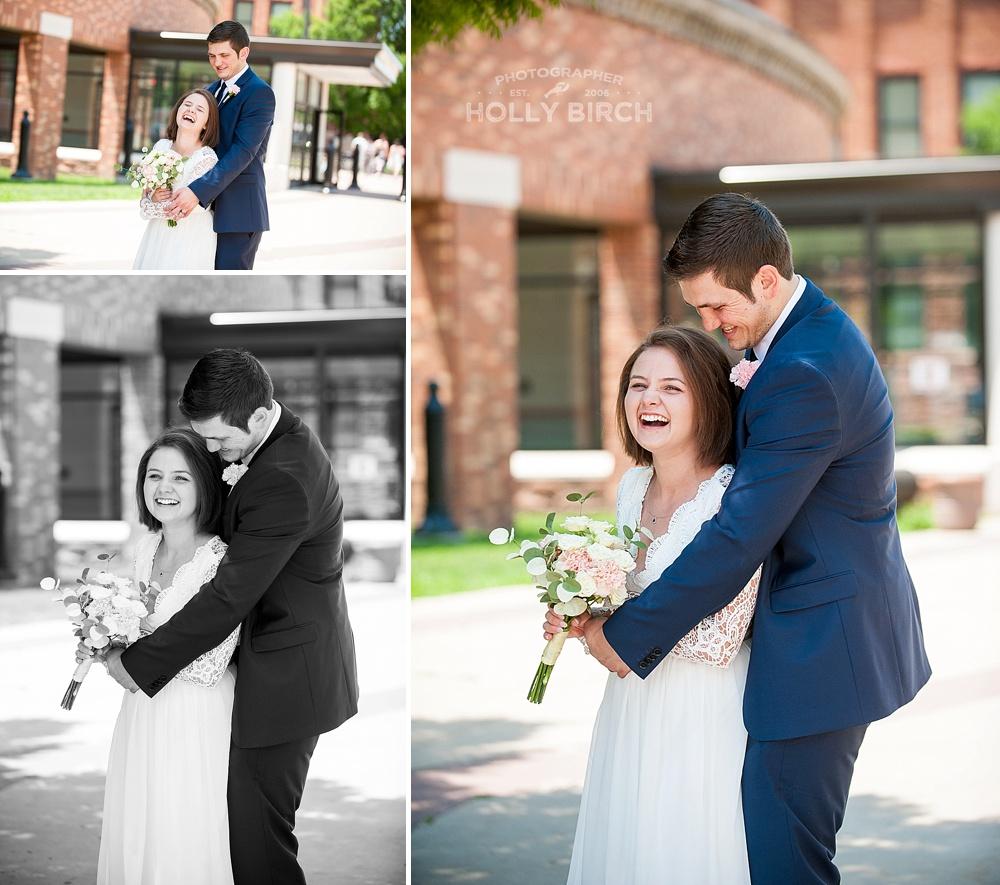 laughing couple wedding photography