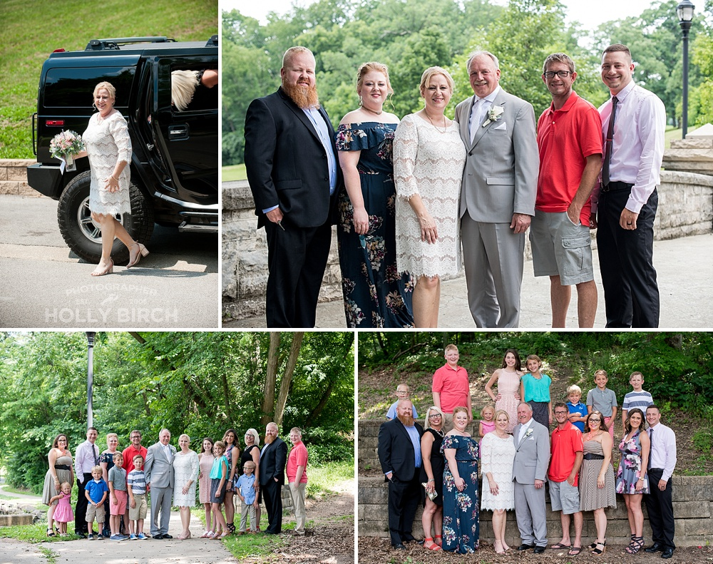 outdoor family wedding pictures