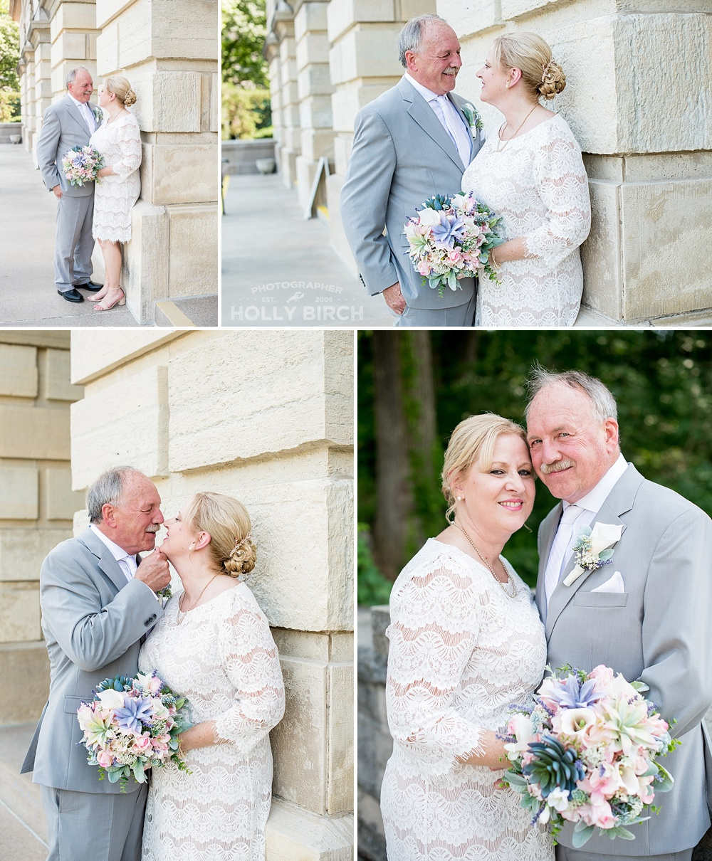 wedding day photos at Illinois State Capitol