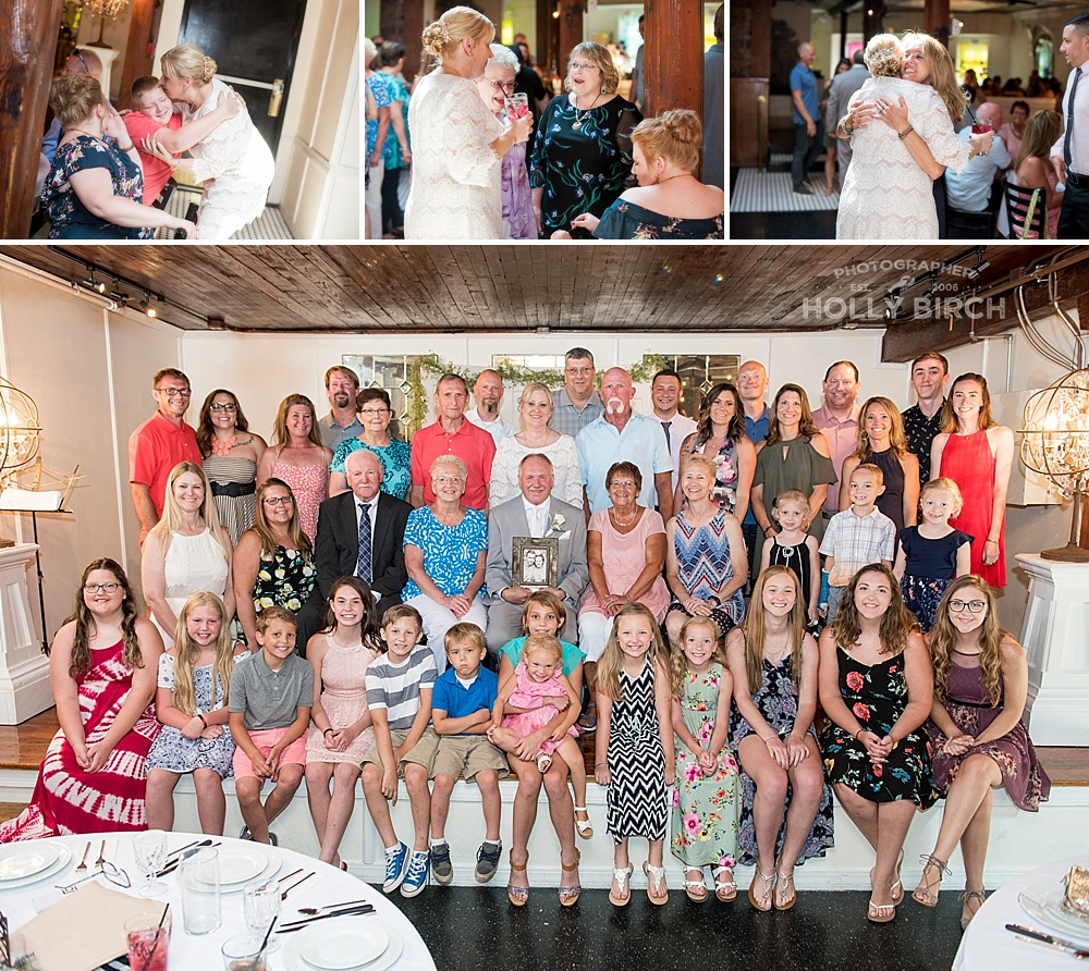 bride and groom with extended family and grandkids