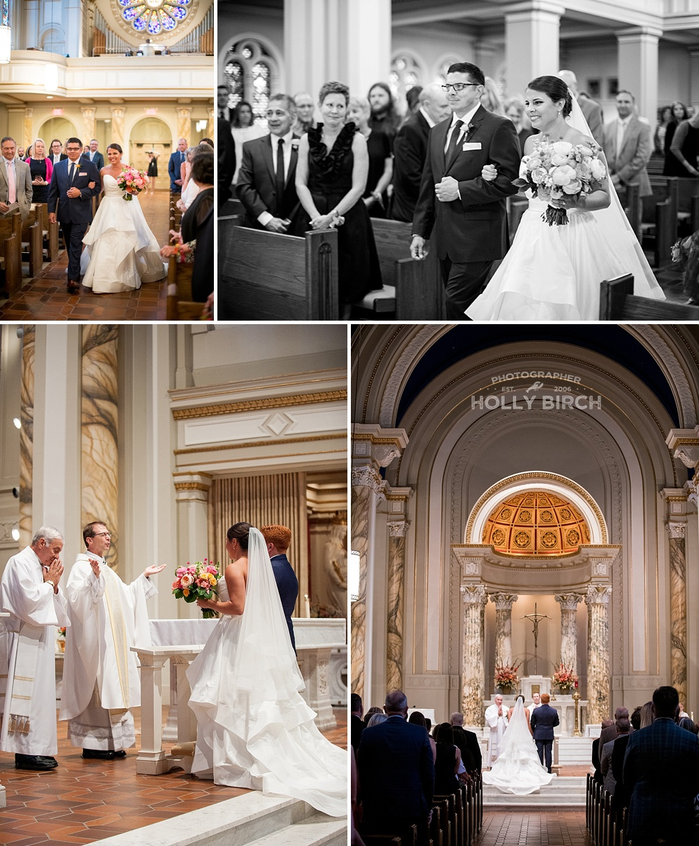 wedding ceremony at Holy Cross Champaign