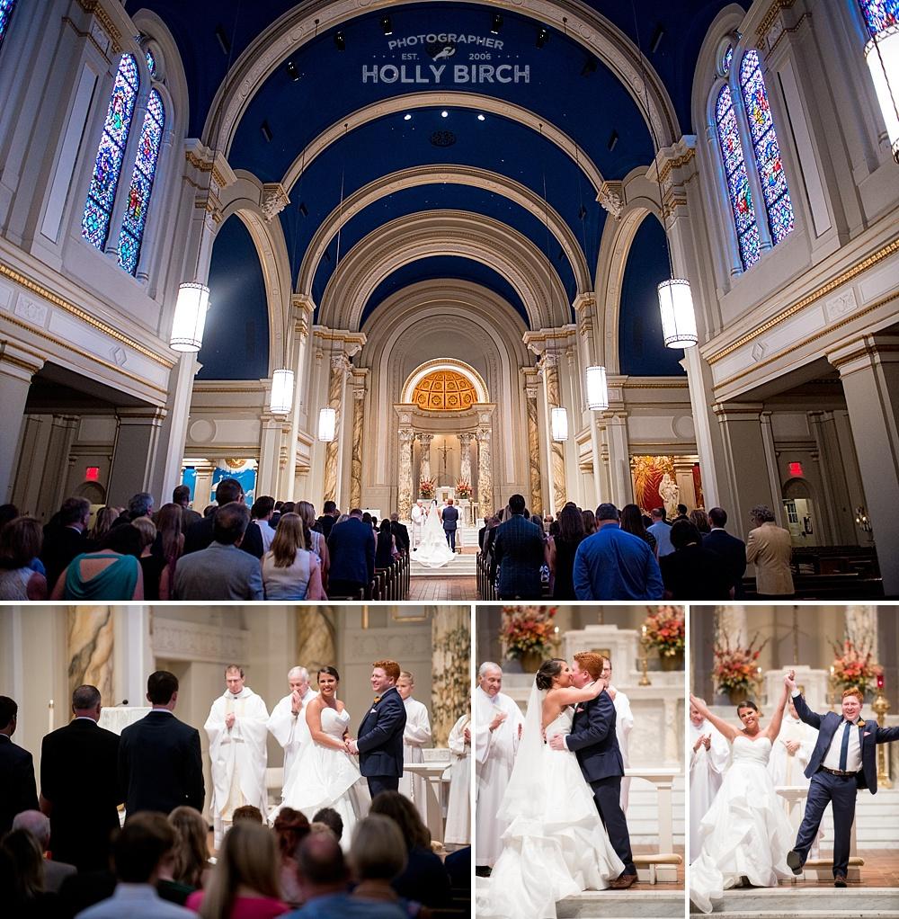 Holy Cross gorgeous Catholic wedding ceremony venue