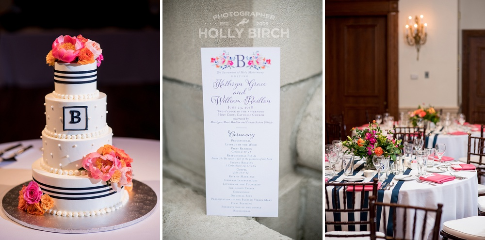 Lilly Pulitzer inspired pink orange navy wedding