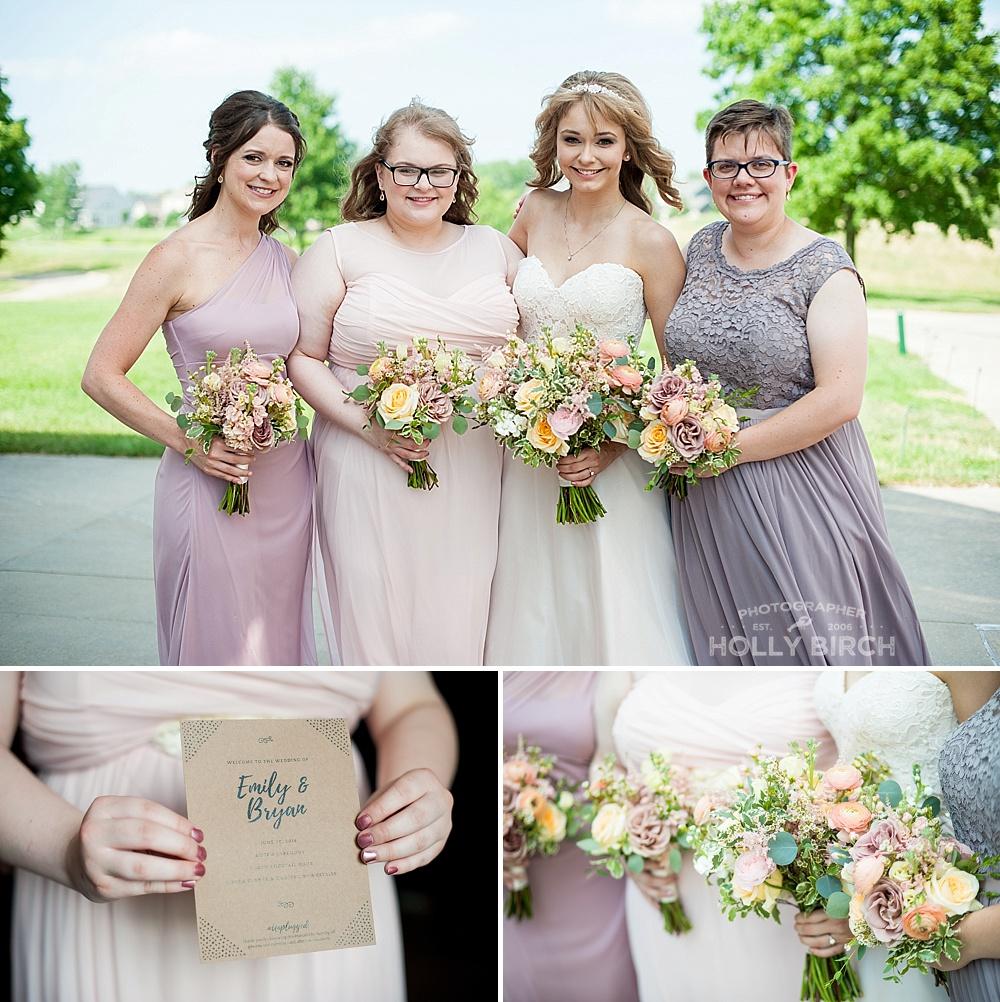 bridesmaid group portraits