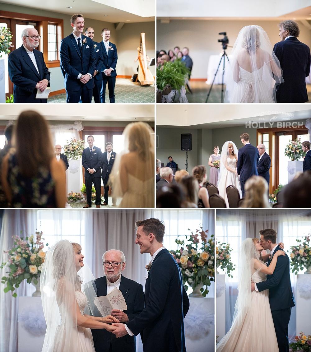 wedding ceremony at Stone Creek golf club Urbana