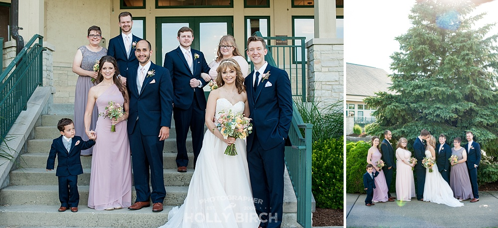 wedding party portraits at Stone Creek