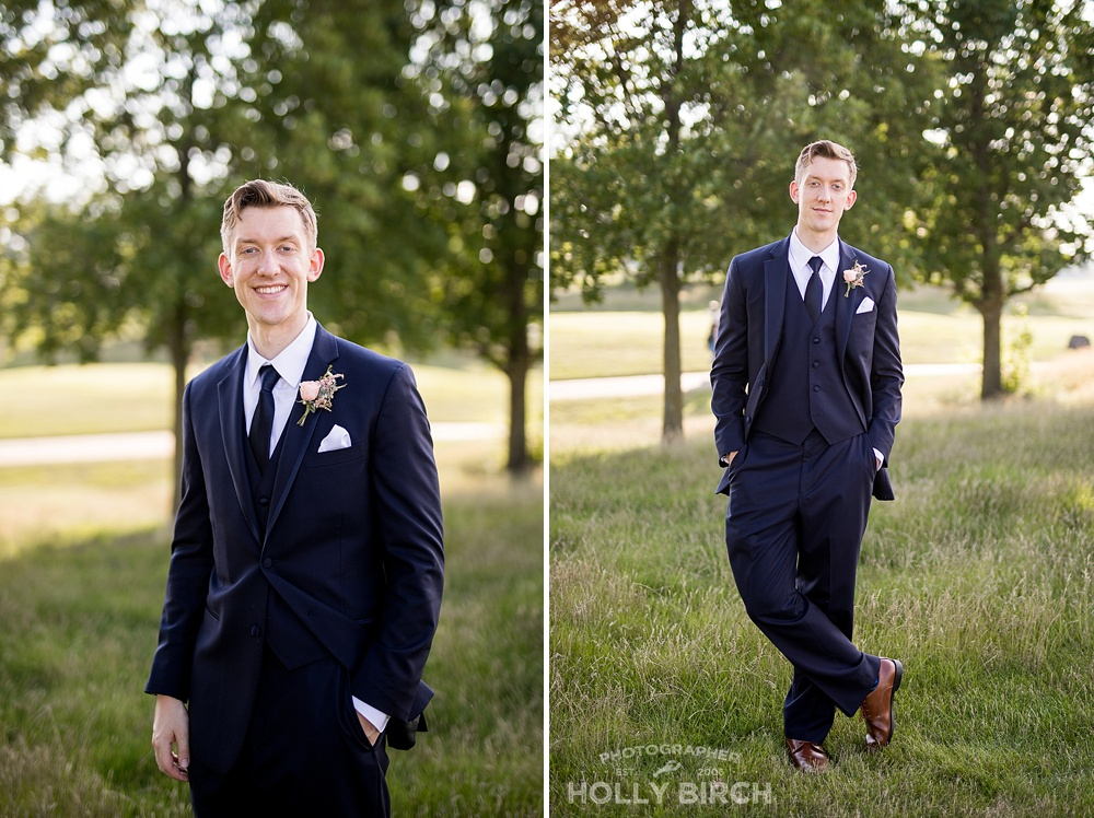 handsome groom on wedding day