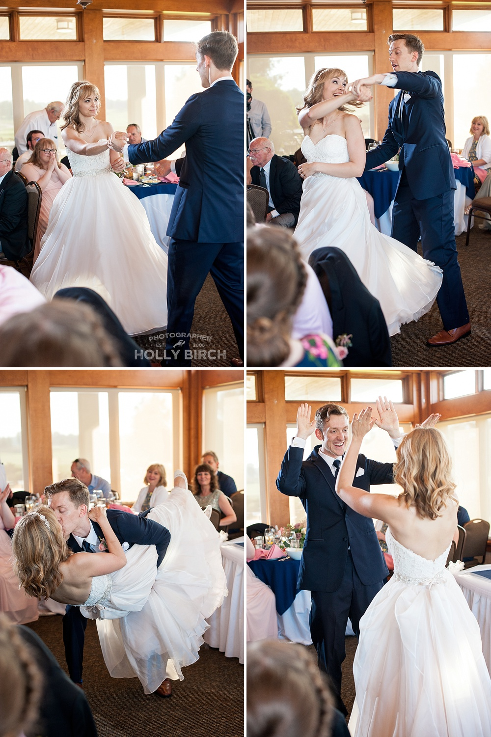 first dance dip kiss
