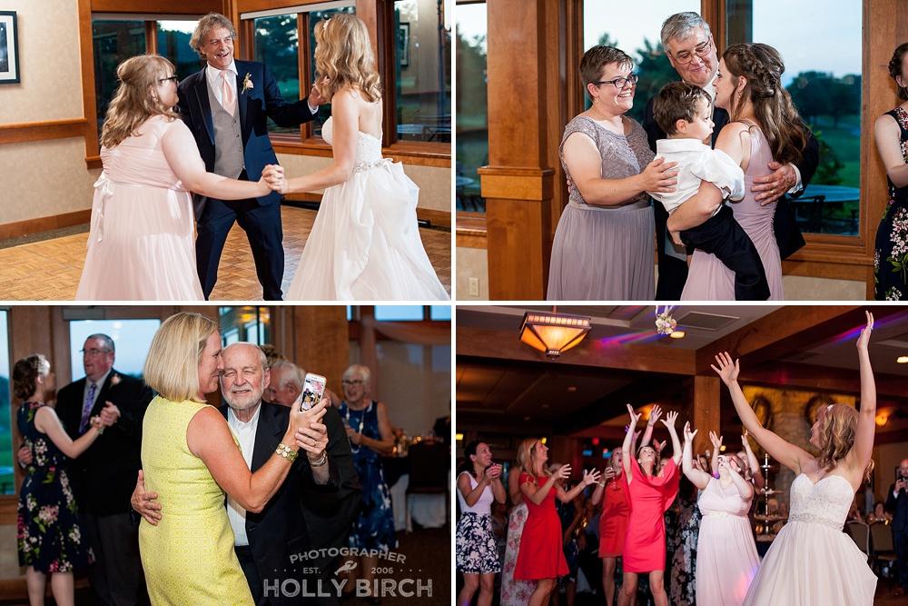 wedding reception dancing at Stone Creek