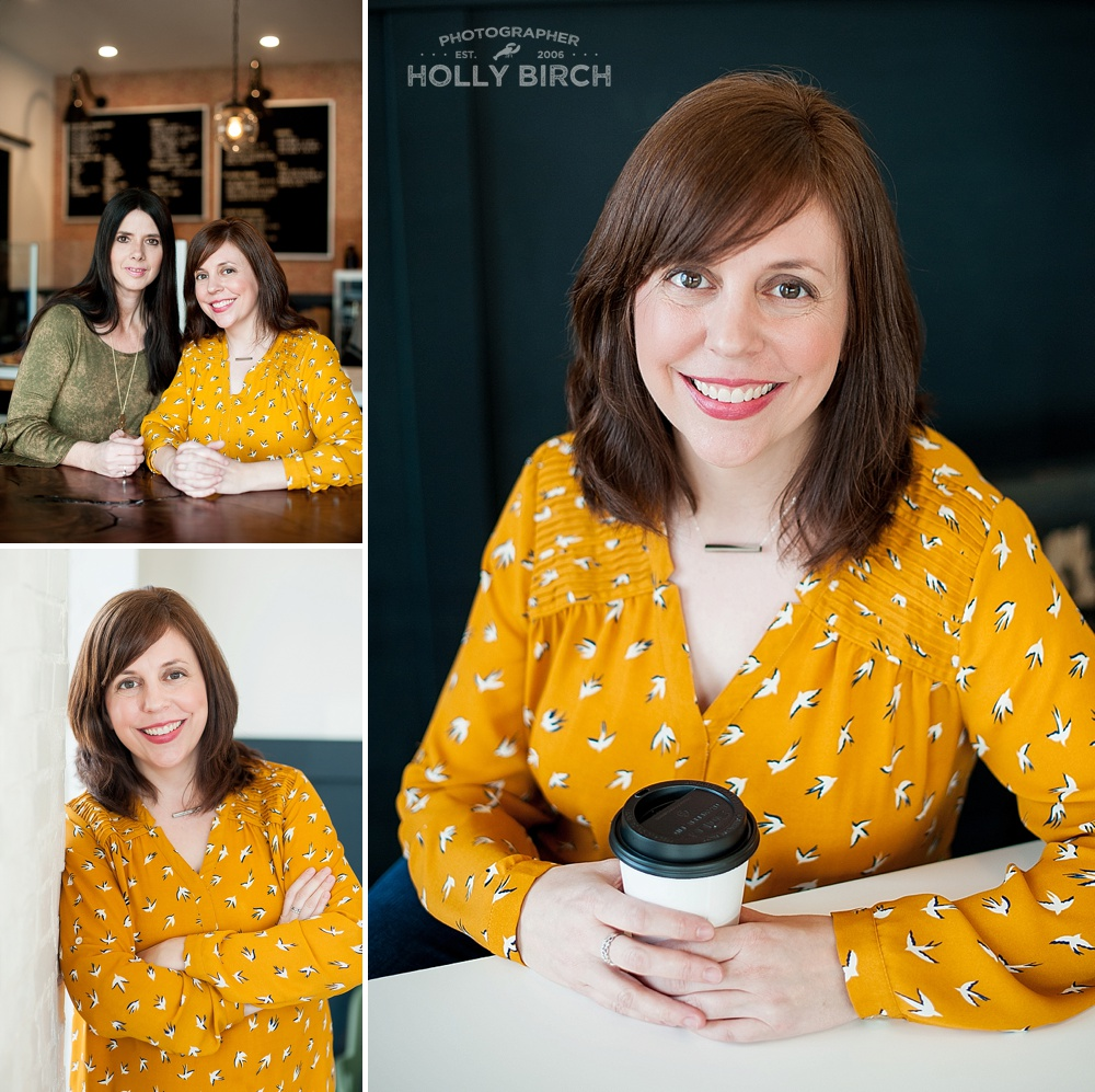 headshots in a coffee shop