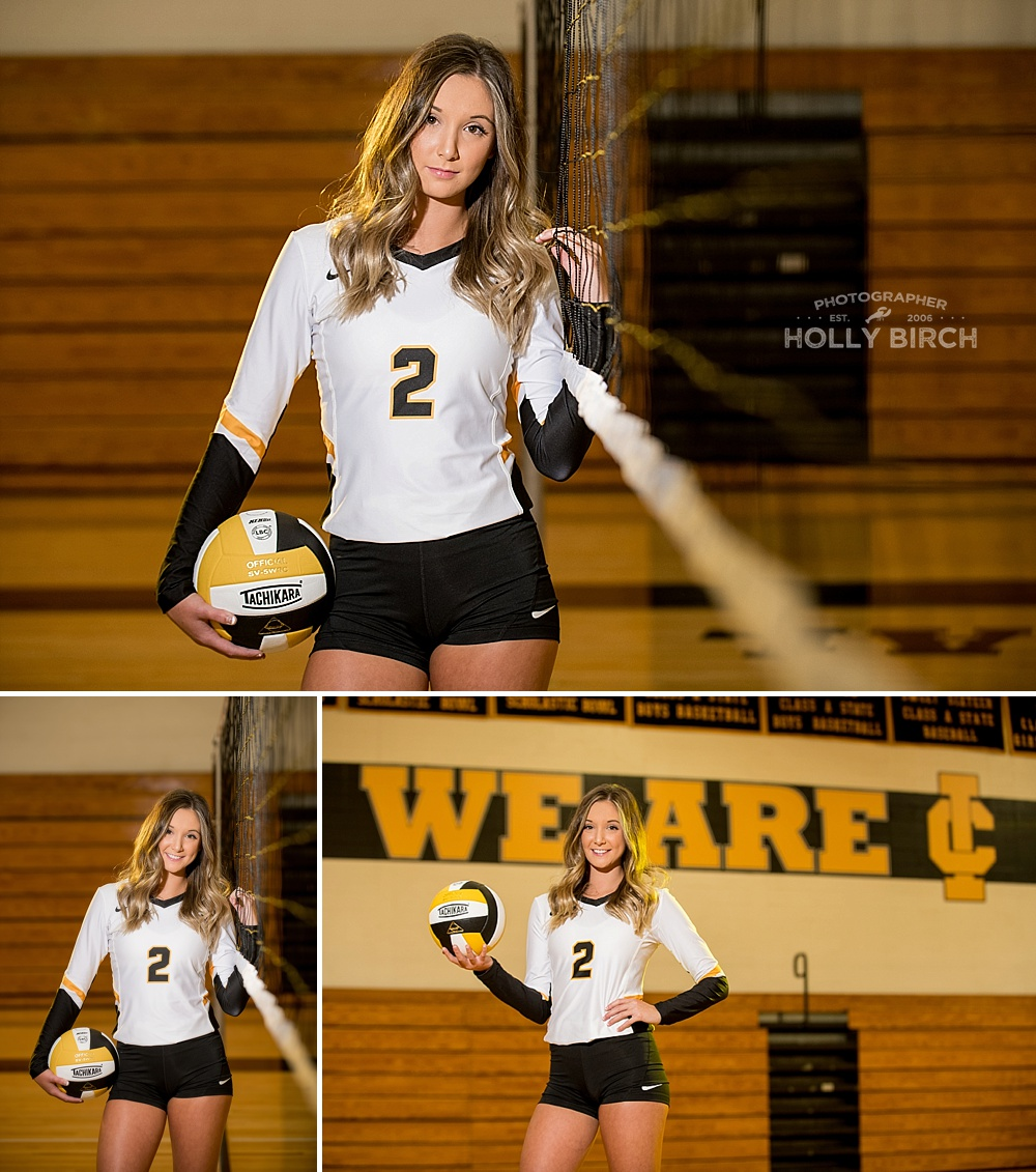 senior volleyball player photos with flash
