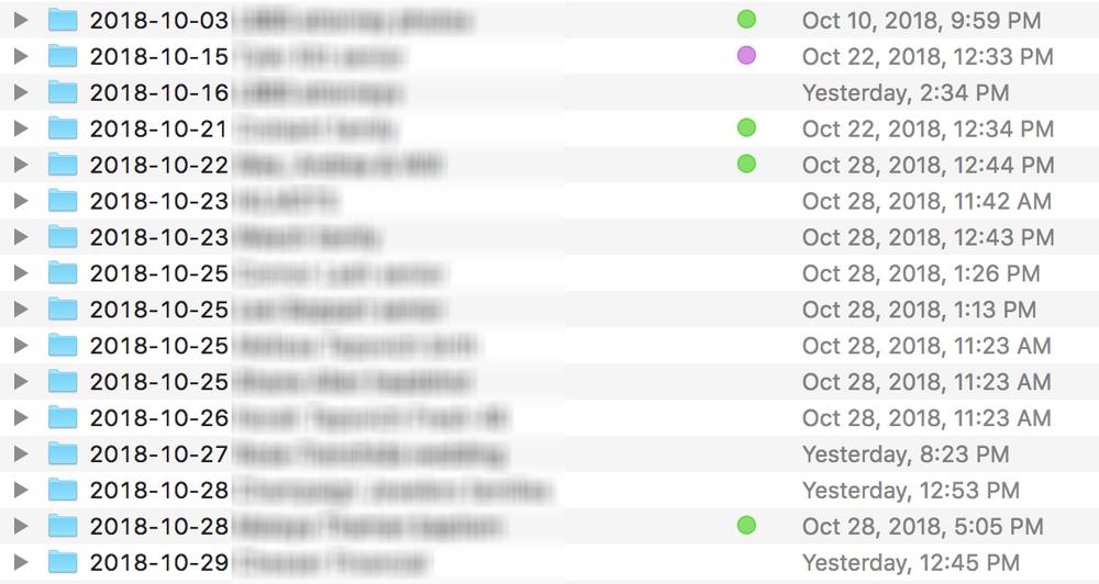 color coding for organization