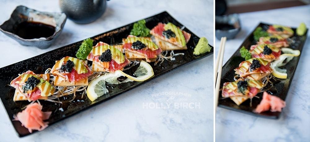 sashimi sushi colorful plate