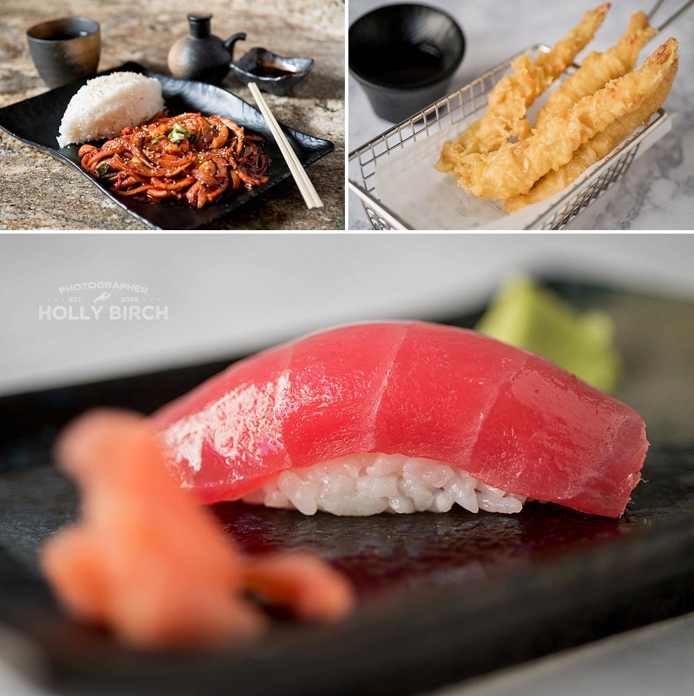 sashimi and shrimp tempura