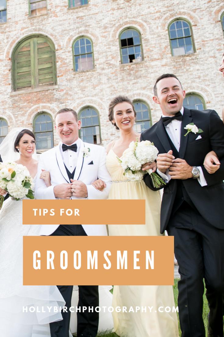 tips for groomsmen