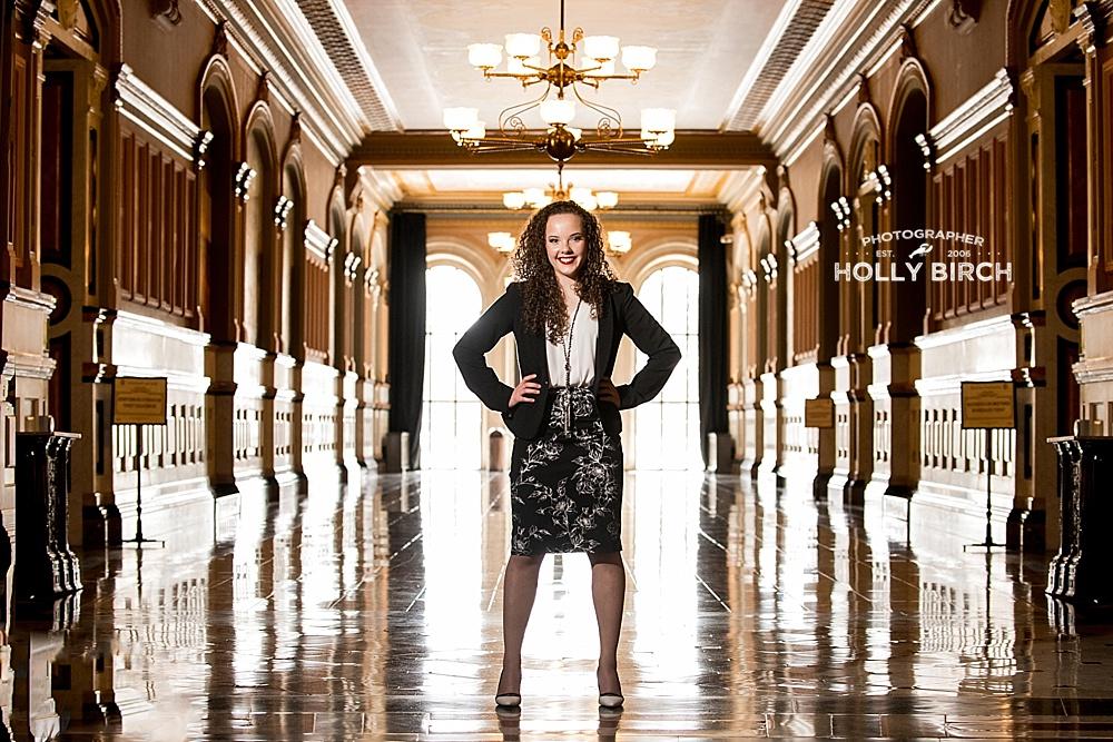 high school senior lobbyist in Illinois
