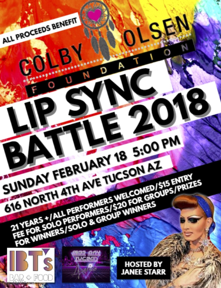 Come out to the Colby Olsen Foundation Lip Sync battle at IBT's on Sunday, February 18th at 5:00pm!   -