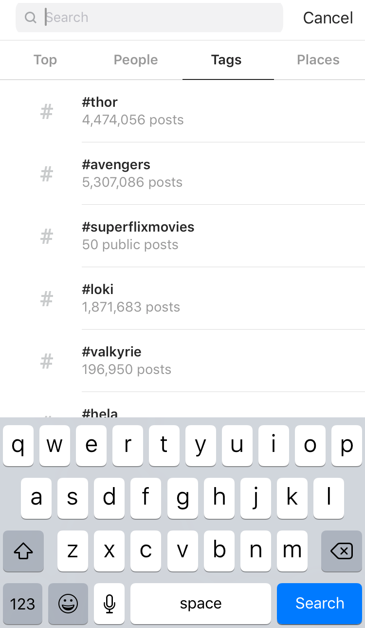 Featured on Top Posts for a hashtag with 4.5 million posts.PNG