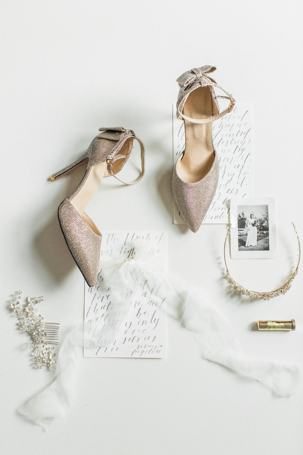 Bridal Shoes from Michelle's Consignment Boutique    Suites below by Line Ave. Calligraphy