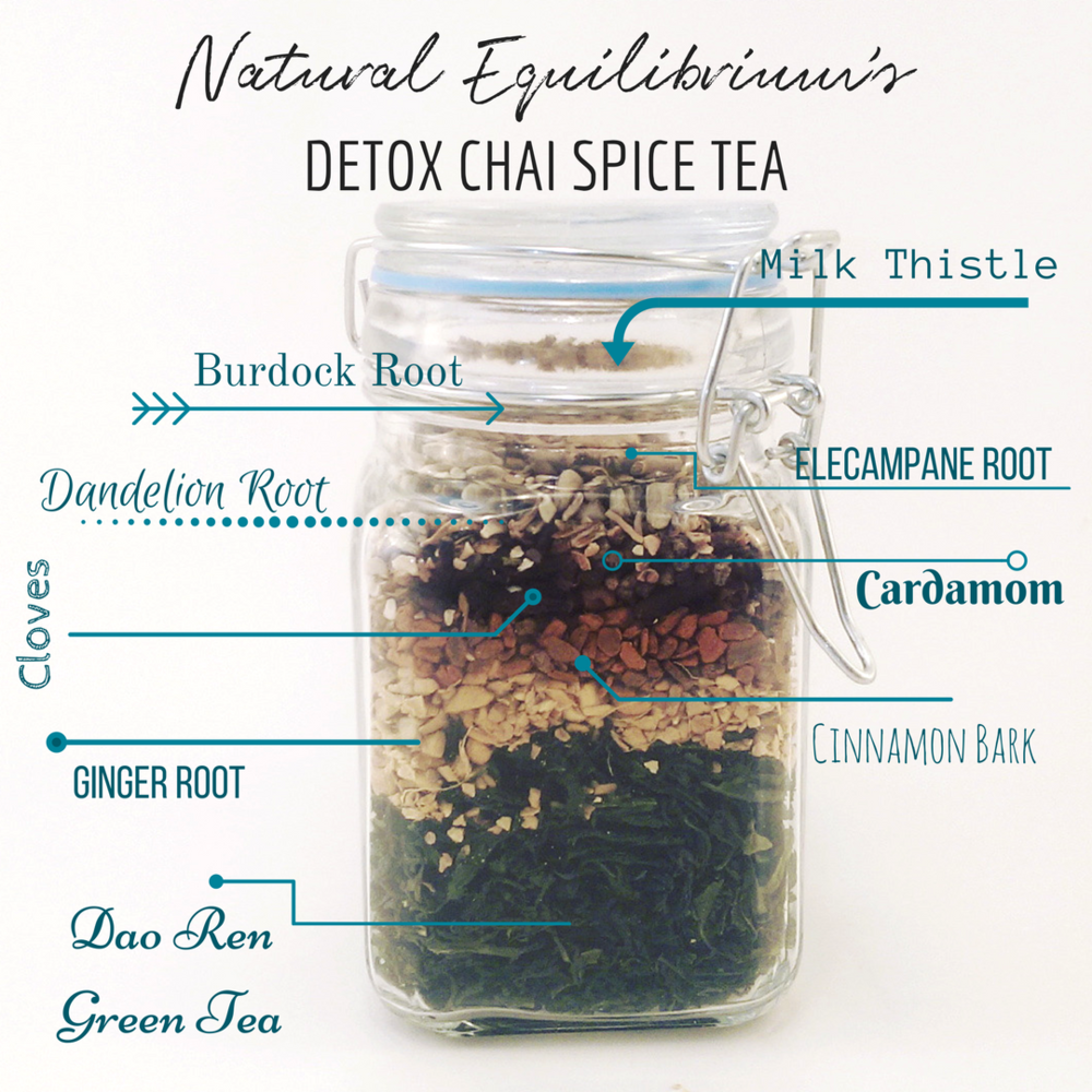 Detox Chai Spice Tea Natural Equilibrium Tea Co