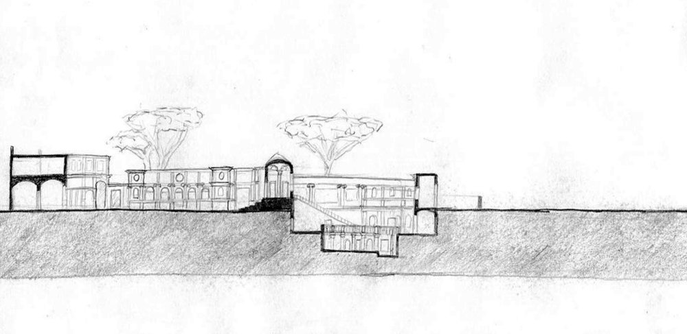 Villa Giulia imagined section