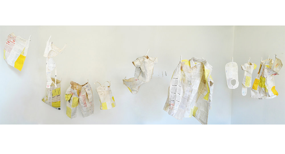 receipts, dreams and thread. 2014