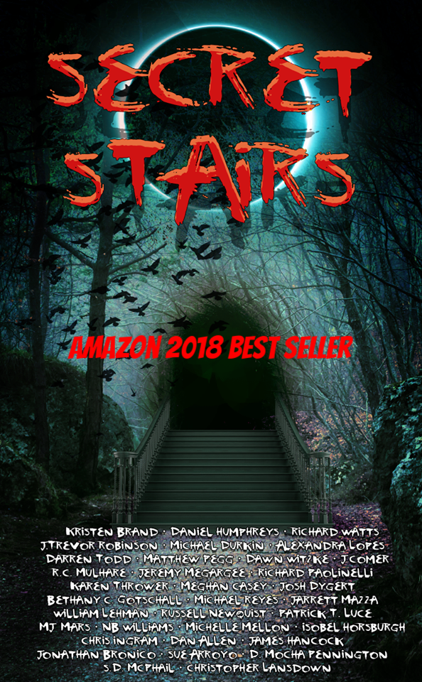 Secret Stairs  - Click the link below to buy Amazon's 2018 best selling horror anthology featuring my story STAIRWAY BACK TO JONATHAN'S FARM!