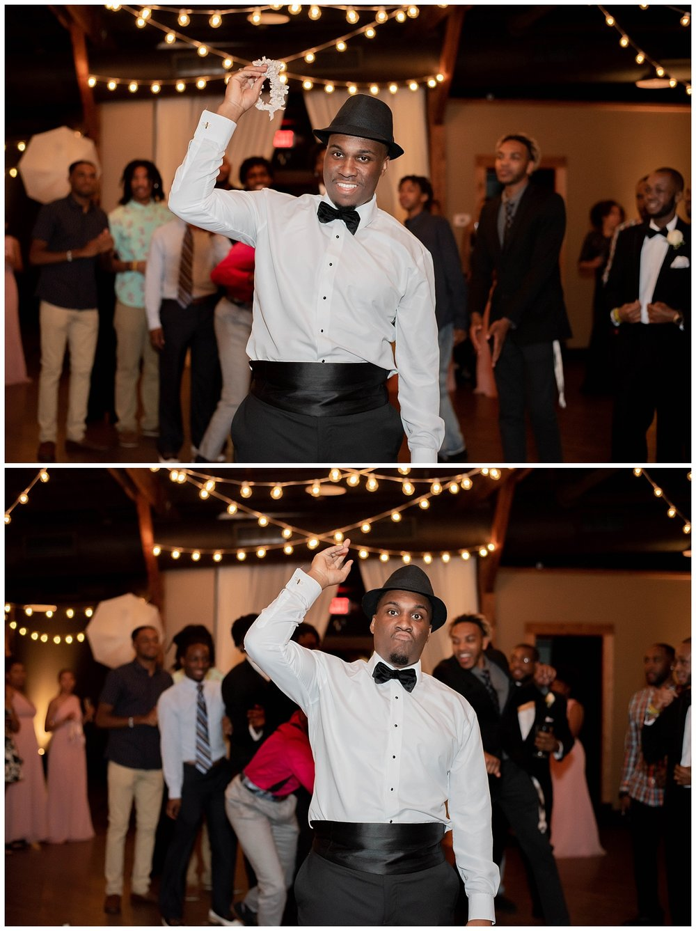 There's never been a more suave garter toss.