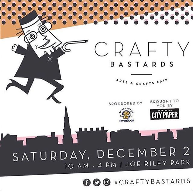 Don't forget to get your local holiday shopping in this weekend at @craftybastards . . . #craftybastards #shoplocal #local #locallymade #handmade #makersgonnamake #makersmovement #charlestonsc #charleston