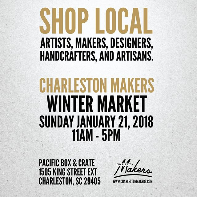 Just a reminder that vendor applications close TONIGHT at 11:59pm. Apply at charlestonmakers.com . . . #makers #makersgonnamake #charlestonmakers #sundayfunday #makersmarket #chs #charleston #lowcountry #chucktown #charlestonsc #charlestonmarket #crafters #artists #designers #wintermarket #charlestonmakersmarket #pacificboxandcrate #workshopchs #badwolfcoffee #artisanmarket #artisans #shoplocal #shoplocalcharleston #charlestonshoplocal #handcrafters #craft #art #design #handmade