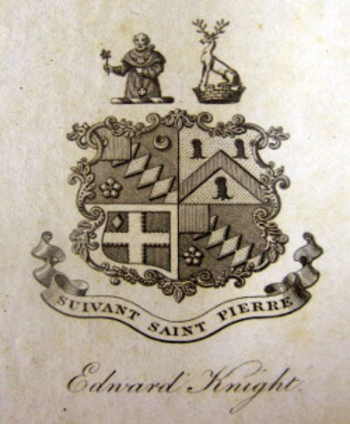 Edward Austen Knight's bookplate