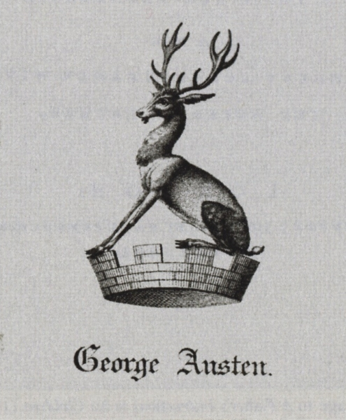 George Austen's bookplate