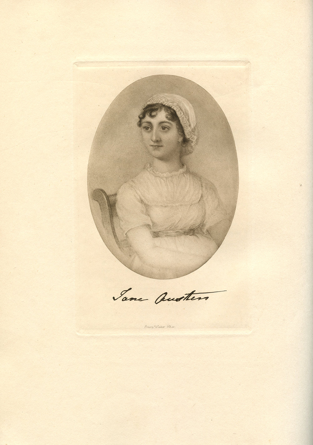 Jane Austen as depicted in Montagu Knight's book -  Chawton Manor and its Owners; a Family History