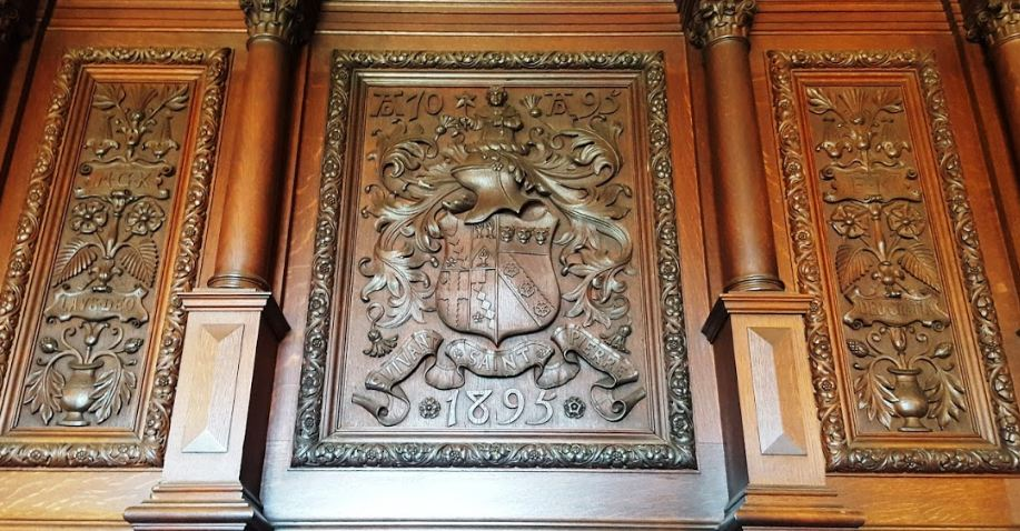 Carving above the fireplace in my family's sitting room at Chawton House