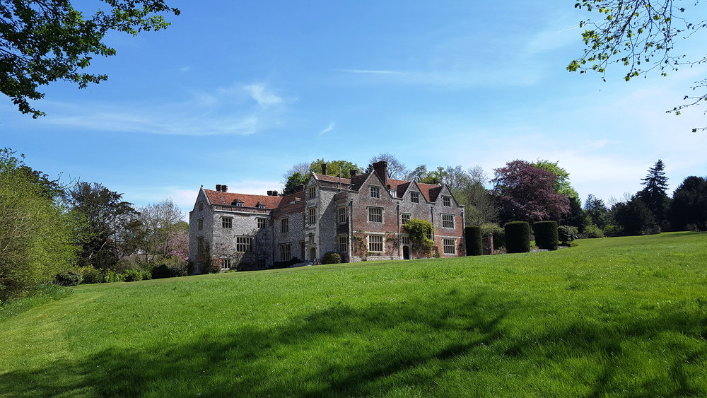 Chawton House, my childhood home, on the ancestral estate where great-aunt Jane Austen lived and wrote.   Photo credit: Julia B Grantham